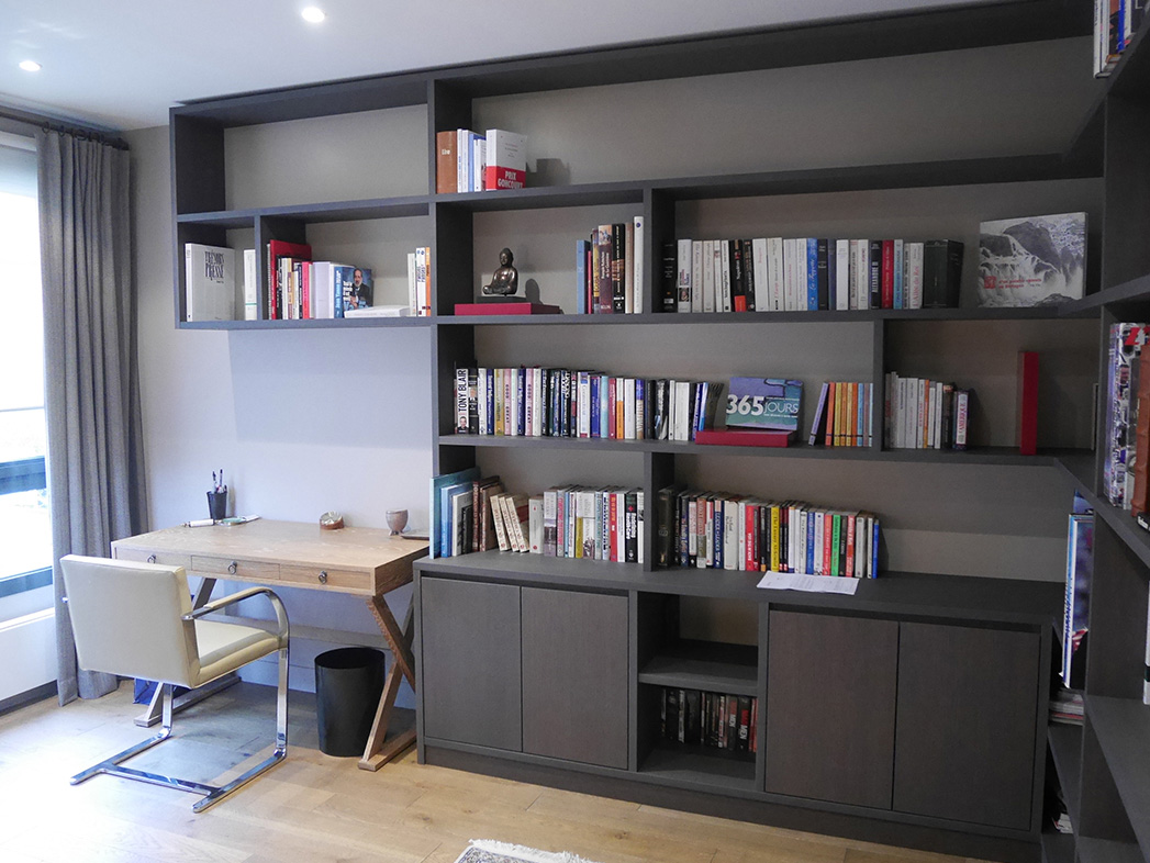 bibliotheque et bureau int gr portfolio tags agence diot clement. Black Bedroom Furniture Sets. Home Design Ideas