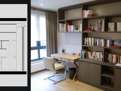 bibliotheque et bureau int gr portfolio tags agence. Black Bedroom Furniture Sets. Home Design Ideas