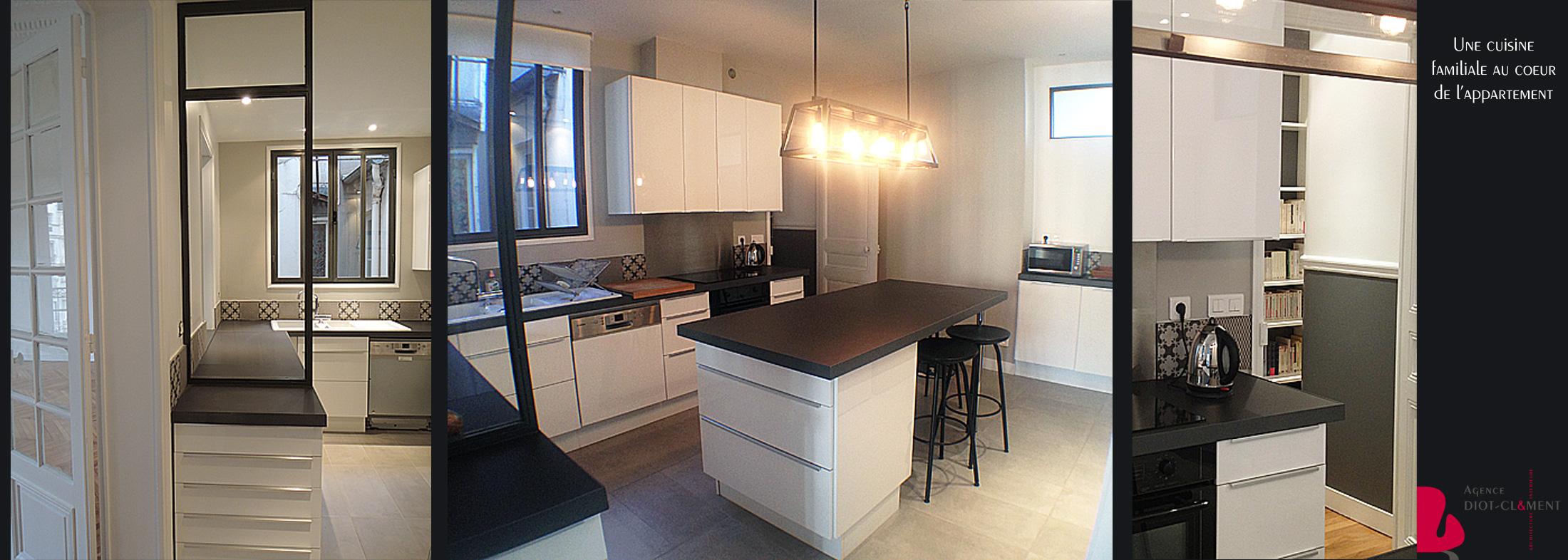 cuisine avec lot central portfolio tags agence diot clement. Black Bedroom Furniture Sets. Home Design Ideas