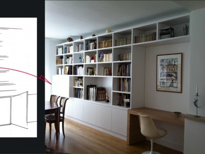 biblioth que sur mesure portfolio tags agence diot clement. Black Bedroom Furniture Sets. Home Design Ideas