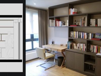 Bibliotheque et bureau int gr portfolio tags agence - Bibliotheque avec bureau integre ...