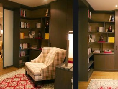 bibliotheque et bureau int gr portfolio tags agence. Black Bedroom Furniture Sets. Home Design Ideas